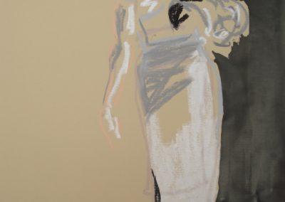 `Frau im Schatten`, Mischtechnik, 0,6 x 0,4 m