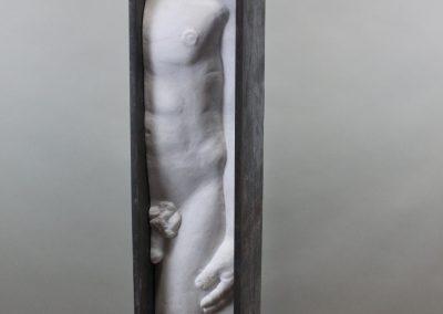 `Ihr Narren`, Stahl und Marmor, 2 m