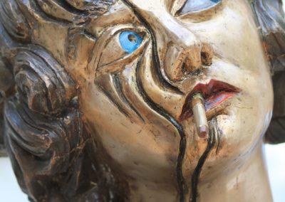 `Maria in der Pause`, Bronze, 65 cm