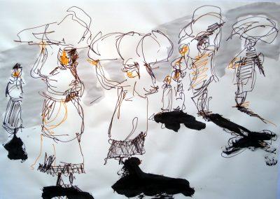 `Trägerinnen`, Filzstift, DIN A 0