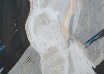 `Weiße Frau`, Mischtechnik, 0,6 x 0,4 m